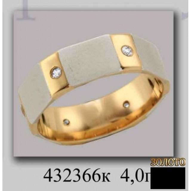 Обручальное кольцо 432366к фото