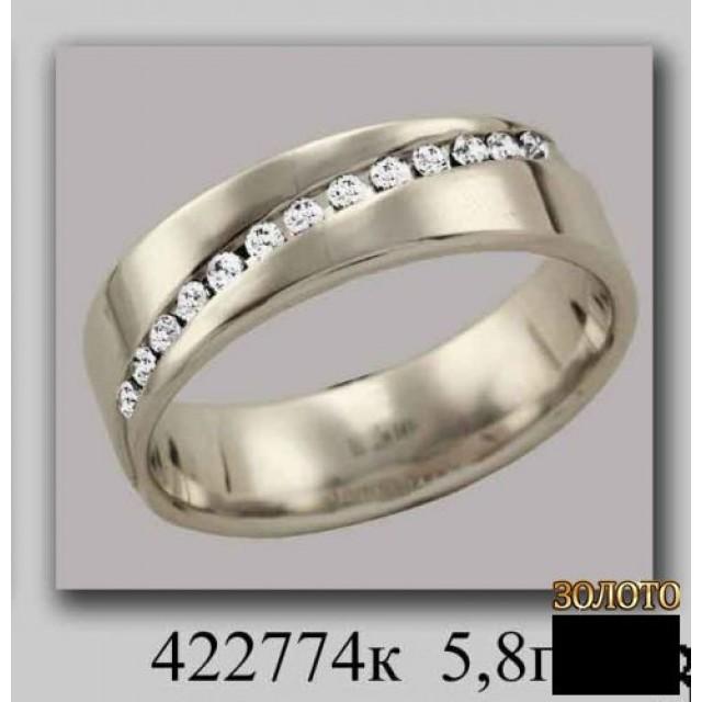 Золотое обручальное кольцо 422774к