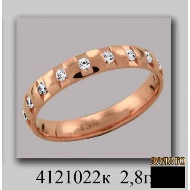Обручальное кольцо 4121022к фото