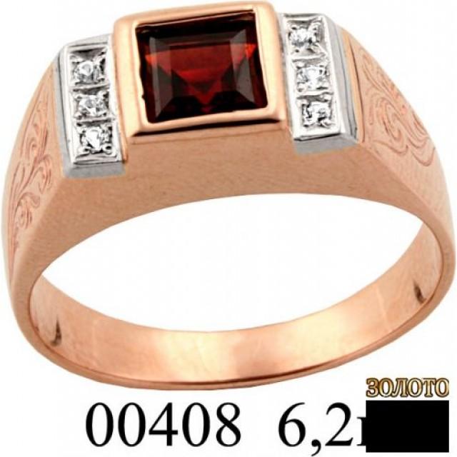 Золотая печатка мужская 00408