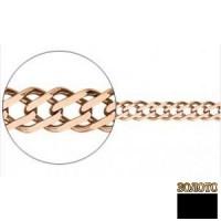 Золотая цепь двойной ромб 1005