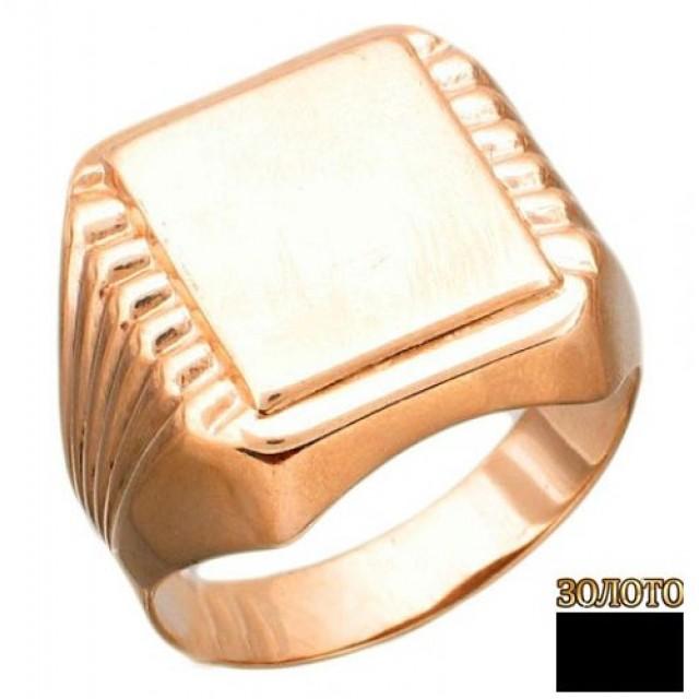 Золотая печатка мужская 10520