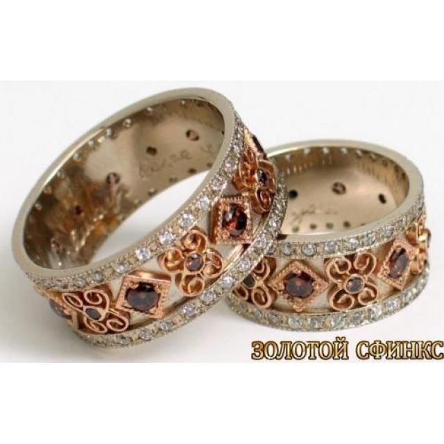 Золотое обручальное кольцо 100102к фото