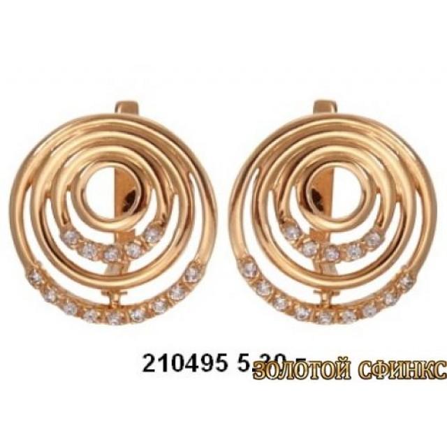 Золотые серьги 210495