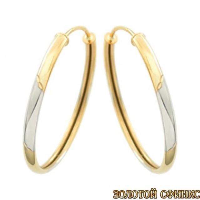 Золотые серьги кольца СК04