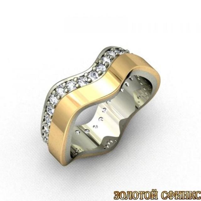 Золотое обручальное кольцо 1101