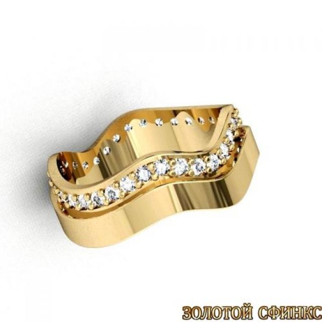 Золотое обручальное кольцо 1102