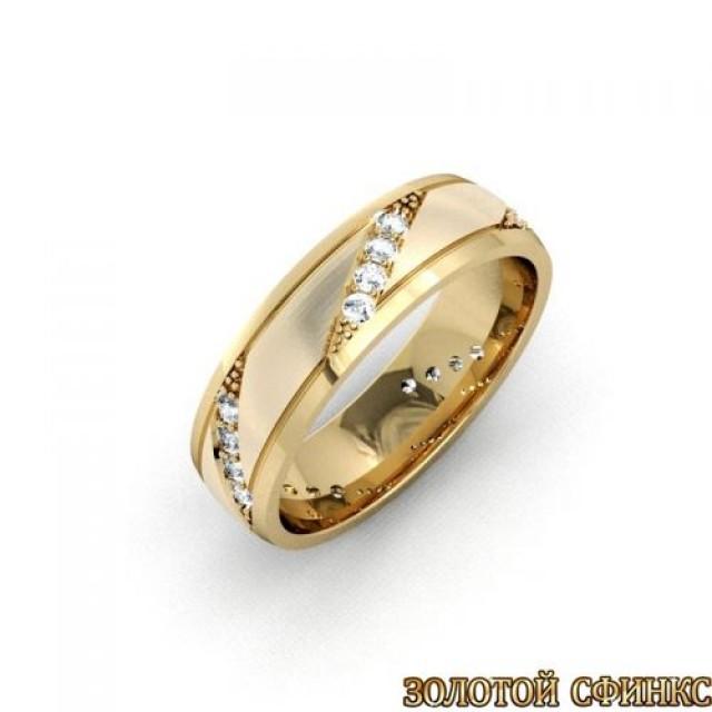 Золотое обручальное кольцо 1104пр