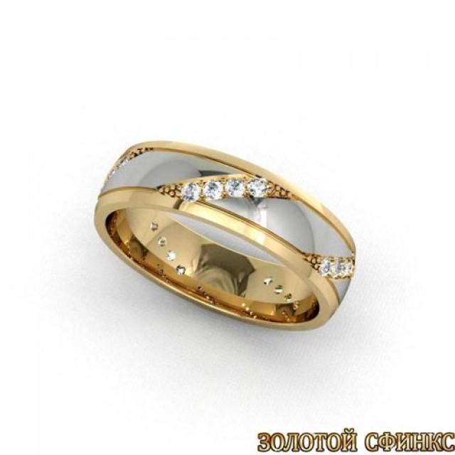 Золотое обручальное кольцо 1105пр
