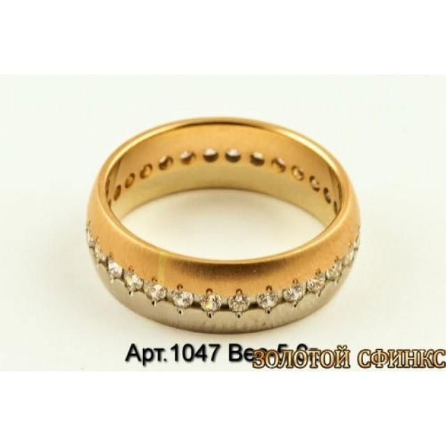 Золотое кольцо обручальное 1047