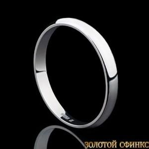 Обручальное кольцо из платины 091001