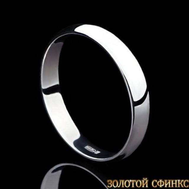 Обручальное кольцо из платины 091002