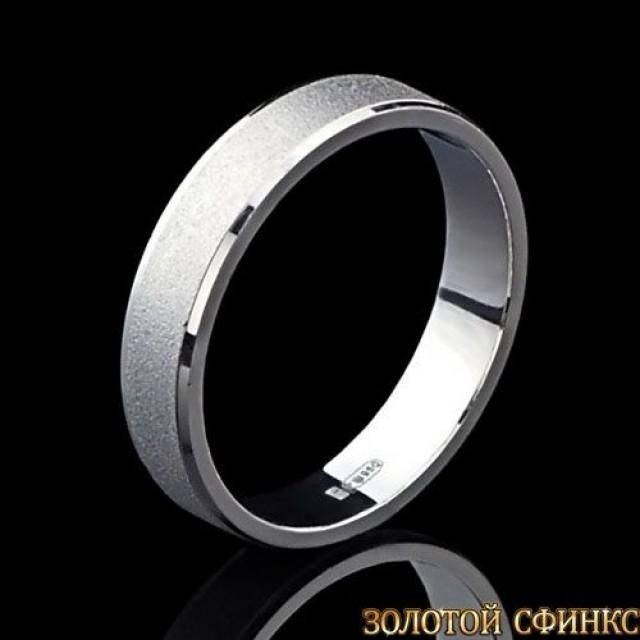 Обручальное кольцо из платины 091014
