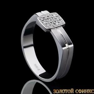 Кольцо из платины с бриллиантами 091127