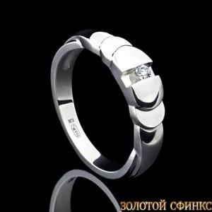 Кольцо из платины с бриллиантом 091128