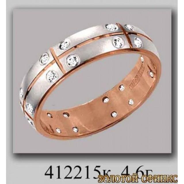 Обручальное кольцо 412215к фото