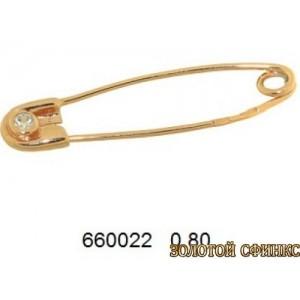 Булавка золотая 660022