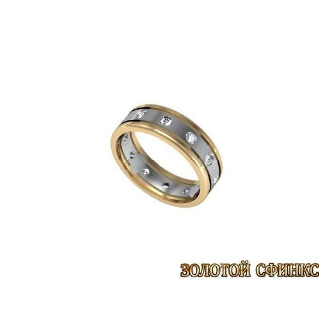 Золотое обручальное кольцо 1106пр