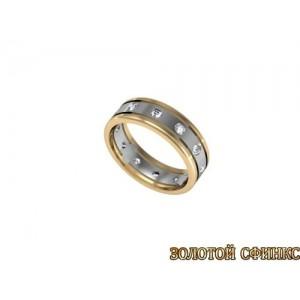 Золотое кольцо с бриллиантами 1106 ПР-бр
