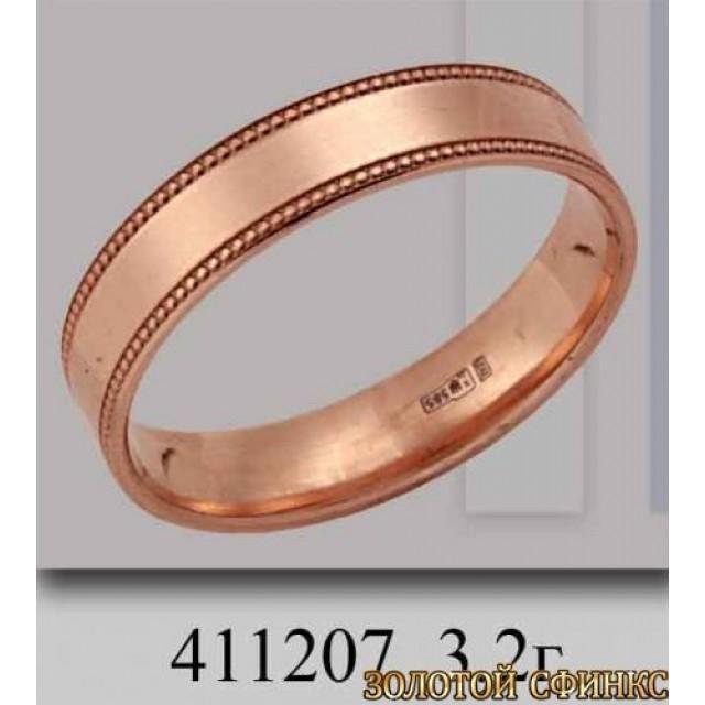 Золотое обручальное кольцо 411207