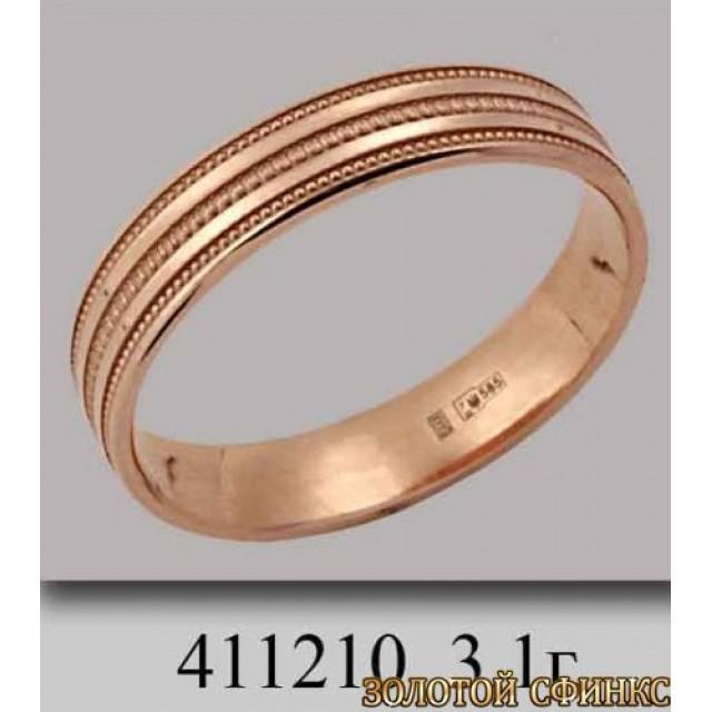 Золотое обручальное кольцо 411210
