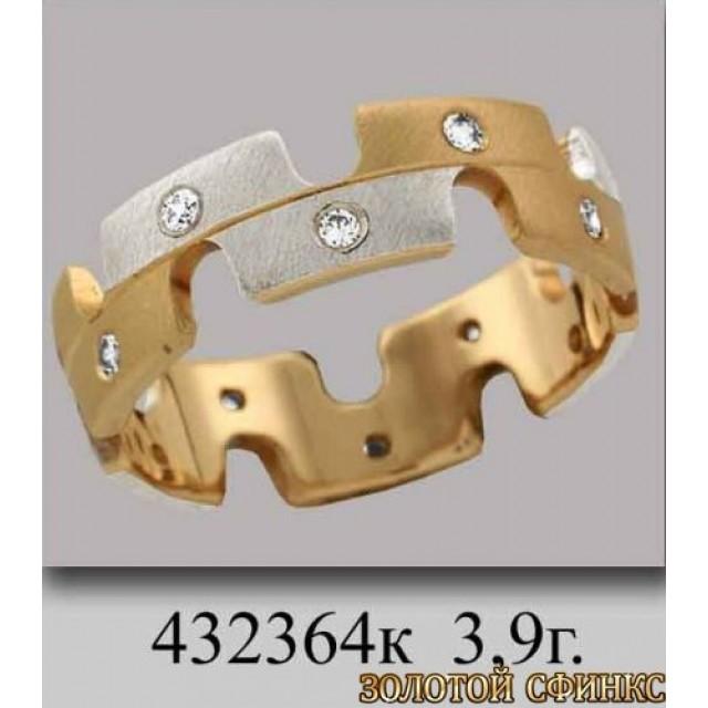 Золотое обручальное кольцо 432364к