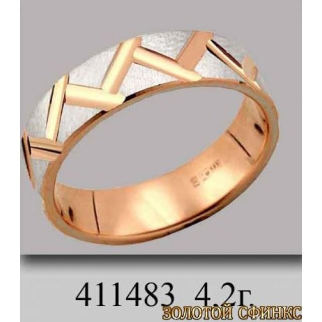 Золотое обручальное кольцо 411483