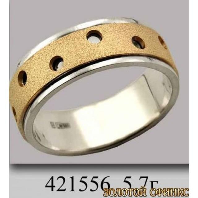 Золотое обручальное кольцо 421556