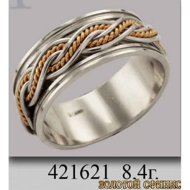 Золотое обручальное кольцо 421621