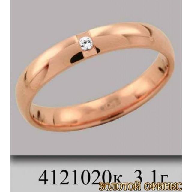 Обручальное кольцо 4121020к фото