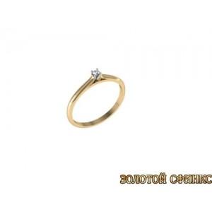 Золотое кольцо с бриллиантом 3021706
