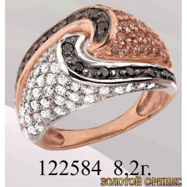 Кольцо золотое с цирконием 122584