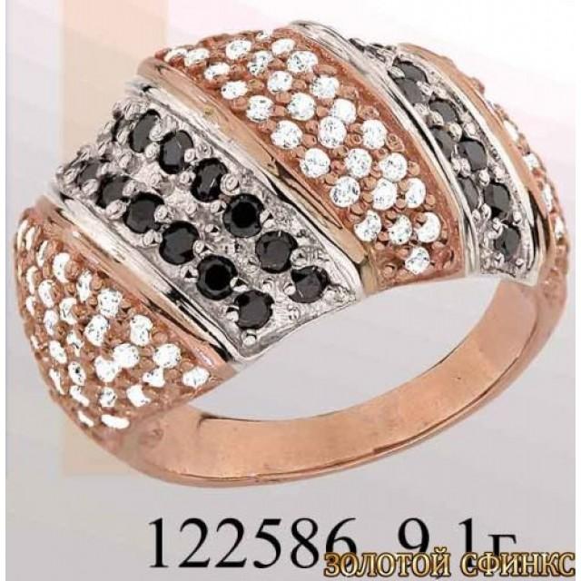 Кольцо золотое с цирконием 122586 фото