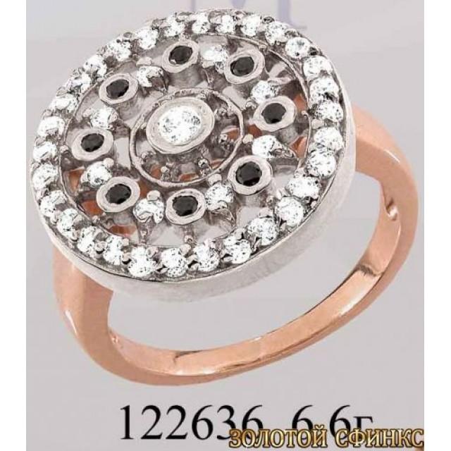 Кольцо золотое с цирконием 122636 фото
