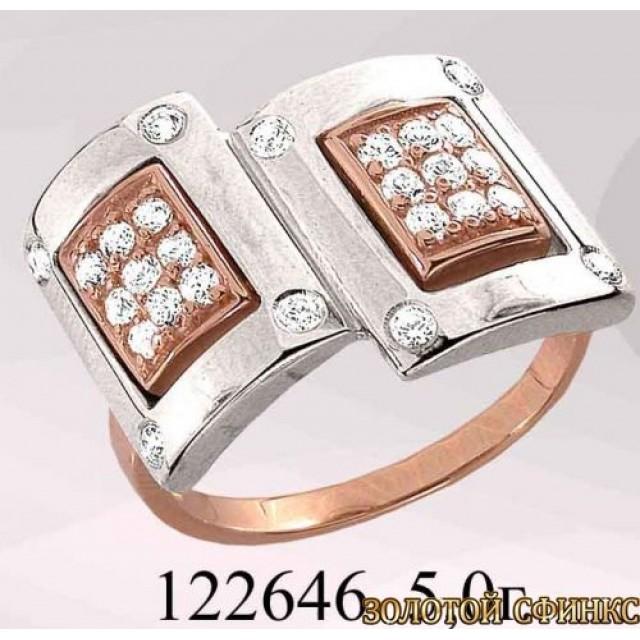 Кольцо золотое с цирконием 122646