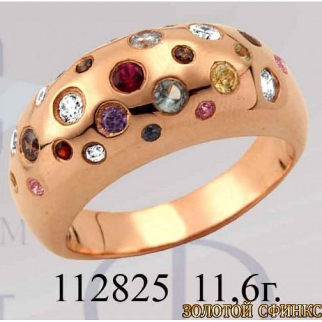 Кольцо золотое с цирконием 112825