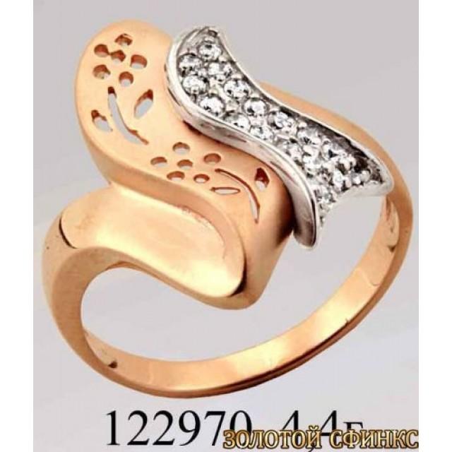 Кольцо золотое с цирконием 122970