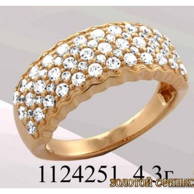 Кольцо золотое с цирконием 1124251