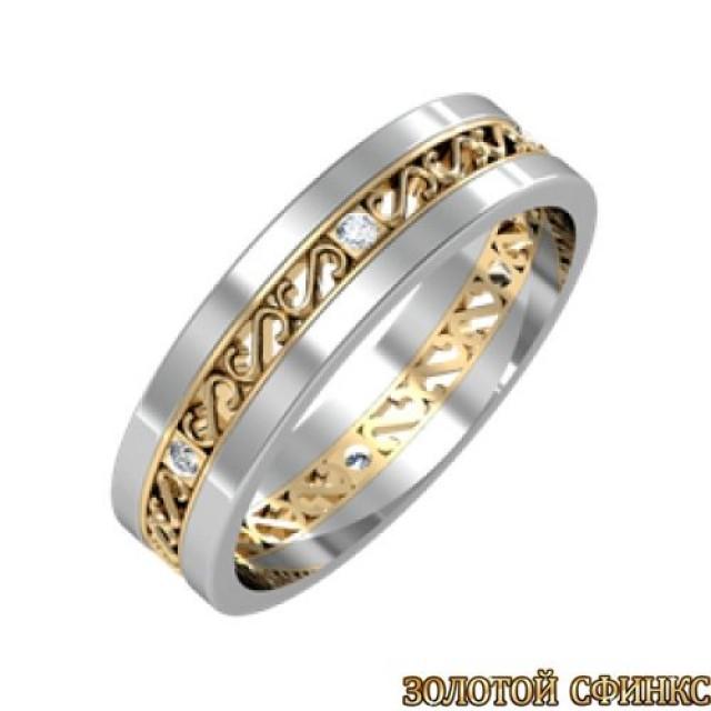 Золотое обручальное кольцо GR 002