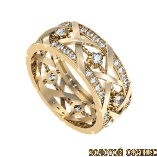 Золотое обручальное кольцо GR 013