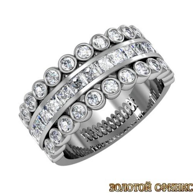 Кольцо золотое обручальное 3020096-97
