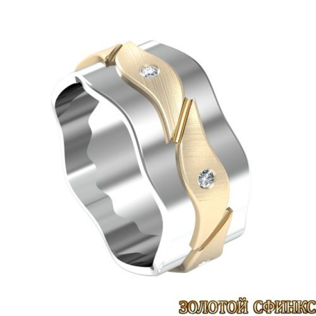 Золотое обручальное кольцо 3020046-95 фото