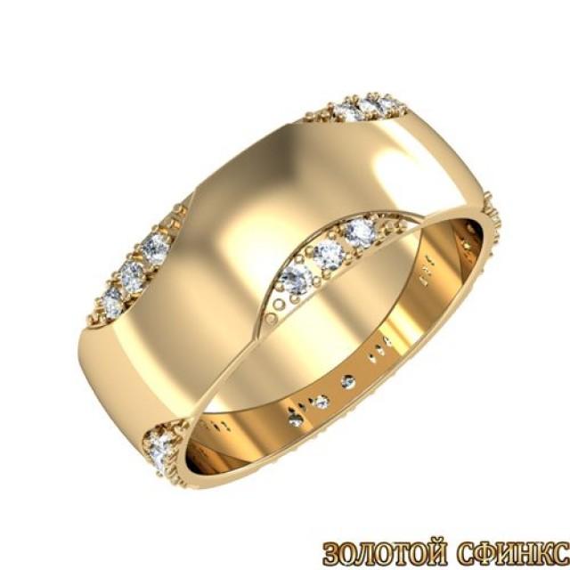 Золотое обручальное кольцо 3020109-142