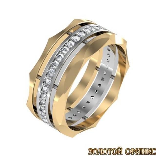 Кольцо золотое обручальное 3020081-61 фото