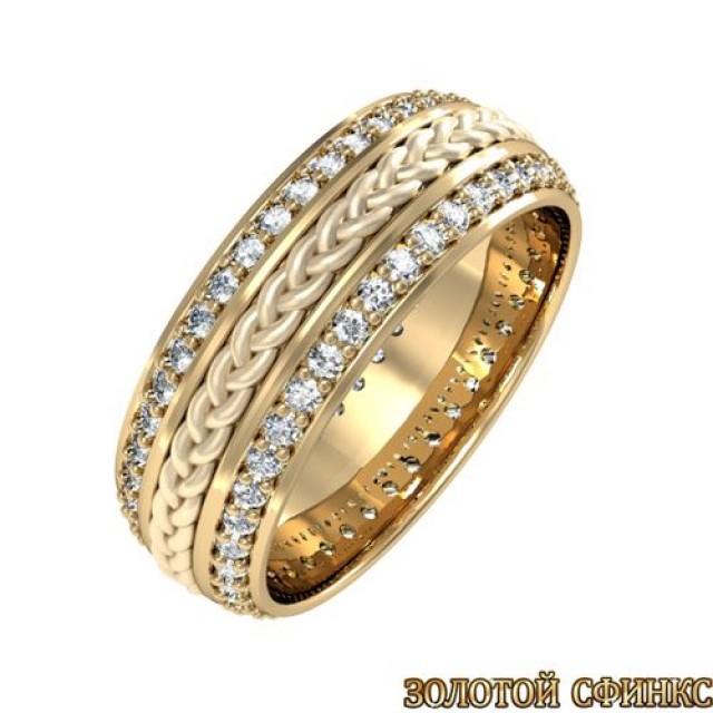 Кольцо золотое обручальное 3020078-49