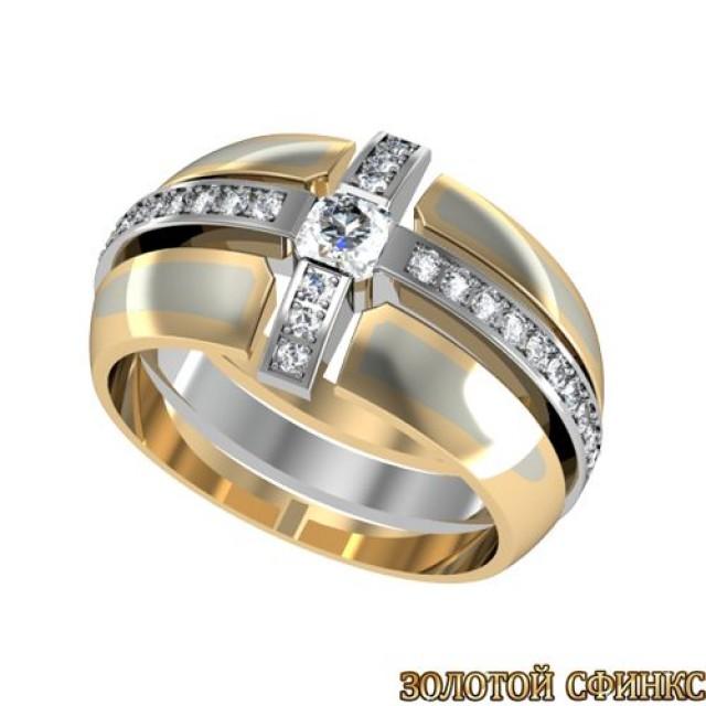 Золотое обручальное кольцо GR 019