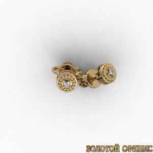 Золотые серьги с бриллиантами 3031672