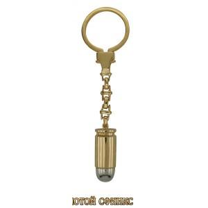 Золотой брелок пуля 33902