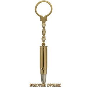 Золотой брелок пуля 33903
