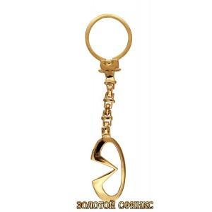 Золотой брелок для ключей на авто Инфинити 39922